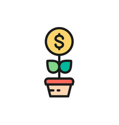 money tree financial investments save vector image