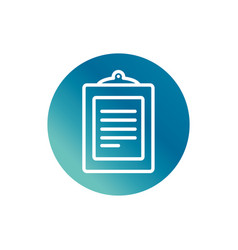office clipboard report document stationery supply vector image