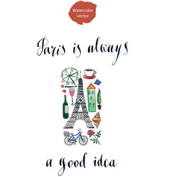 paris is always a good idea vector image