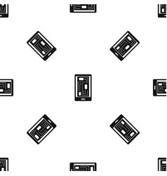 Phone innards pattern seamless black vector