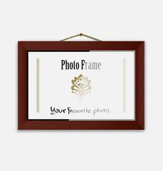 photoframe on nail vector image