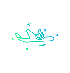 plane icon design vector image