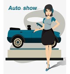 Pretty Motor Show vector image