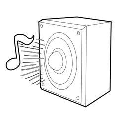 Radio icon outline style vector