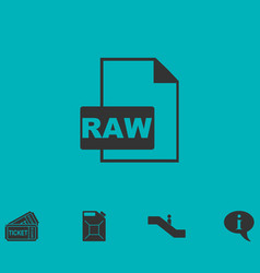 Raw icon flat vector