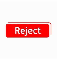 Reject icon in simple style vector