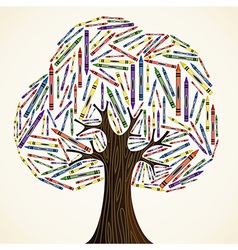 School art education concept tree vector image