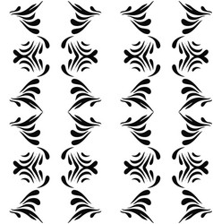 seamless abstract black floral pattern vector image