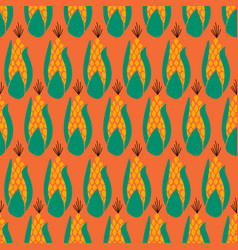 Seamless pattern corn maize repeating on vector