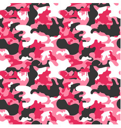 Seamless square camouflage pattern vector