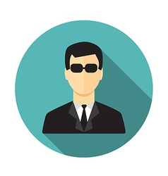Secret service agent vector image