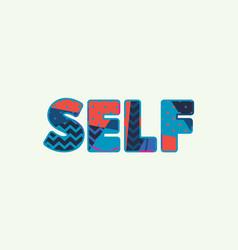 Self concept word art vector