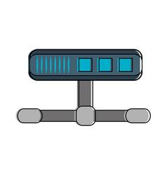 server storage database vector image