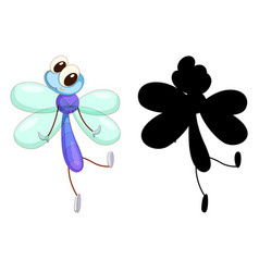 Set insect cartoon character and its vector