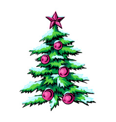 sketch of symbol christmas vector image