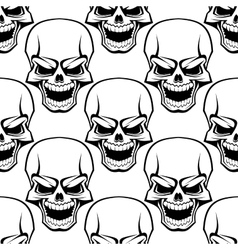 Skull seamless background pattern vector image
