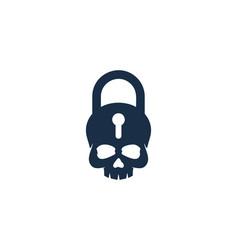 Skull security logo icon design vector
