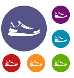 sneaker icons set vector image
