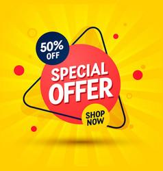 Special offer label modern web banner vector
