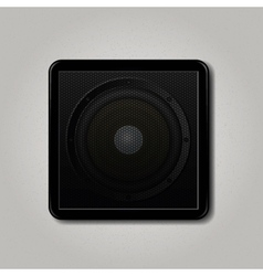 Square speaker icon vector image