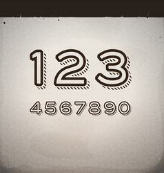 Stylish Retro Numbers vector image