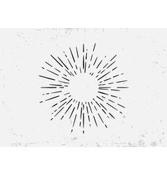 Sunburst on starburst element for logo creating or vector
