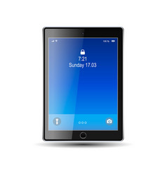 tablet with blue screen vector image