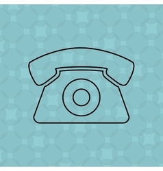 telephonic service design vector image