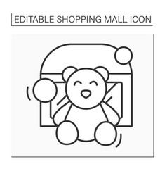 Toy store line icon vector