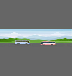 traveling bus cartoon flat vector image