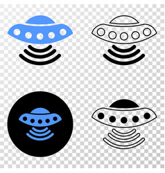 ufo eps icon with contour version vector image