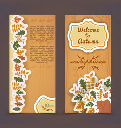 warm autumn vertical banners vector image