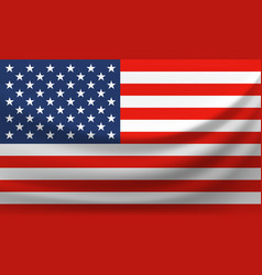waving national flag of united states of america vector image