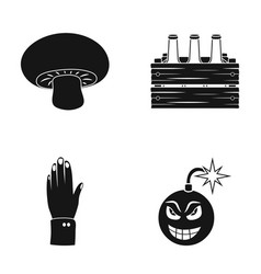 Wick ecology industry and other web icon in vector