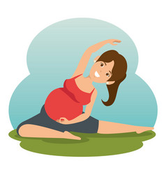 yoga training for healthy pregnancy vector image