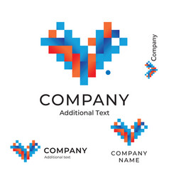 abstract logo with lines and squares like arrow vector image