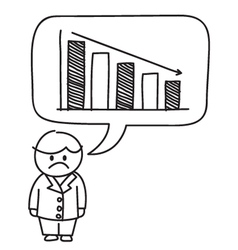Business loss Graph vector image vector image