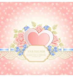 Greeting card Vintage background vector image