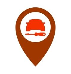 Service car assistance icon repair symbol vehicle vector image