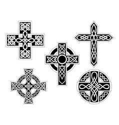 Set of celtic crosses vector image