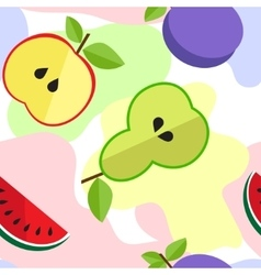 Tasty fruit pattern for your design vector image vector image
