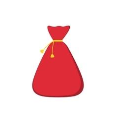 Big bag of Santa Claus for Christmas gifts and vector image