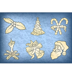 christmas collection vector image