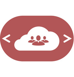 Customers connected to cloud service icon vector