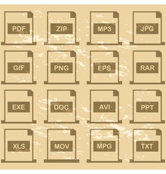 File extensions vector image