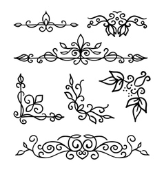 Hand drawn decoration elements frames page vector image vector image