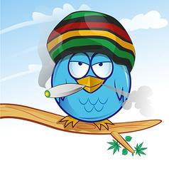 jamaican owl cartoon vector image vector image