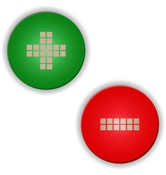 Plus minus buttonssigns vector image
