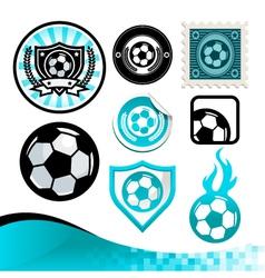 Soccer Ball Design Kit vector image