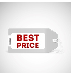 Blank price tag isolated on white vector image